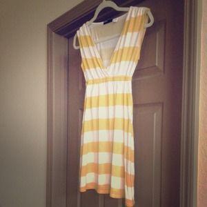 Yellow & White Strip Dress/Tunic