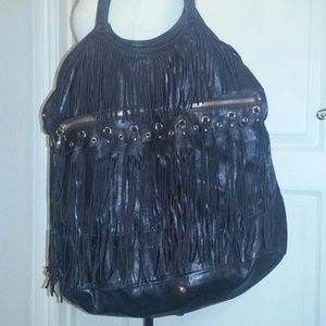 Jimmy Choo oversized fringe bag