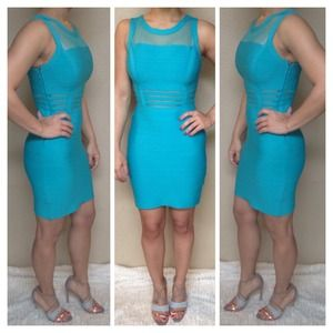 Blue Bandage Sleeveless Dress
