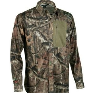 Guide Series Mossy Oak Breakup airmesh buttonup