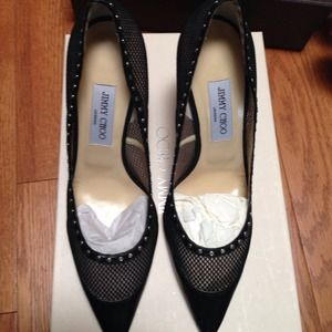 Jimmy Choo Black Pumps 40 with dust cover