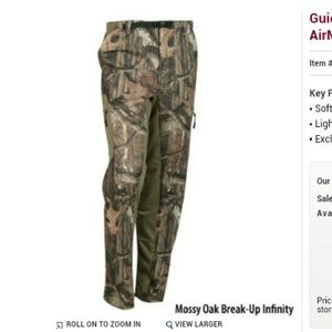 Guide series Mossy Oak breakup airmesh pants