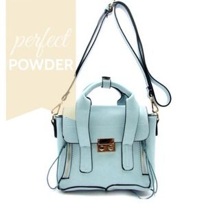 Handbags - Powder Blue Spring Messenger Bag