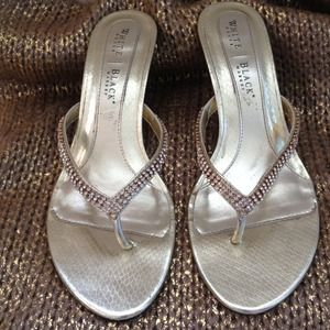 White House Black Market Gold Sandals