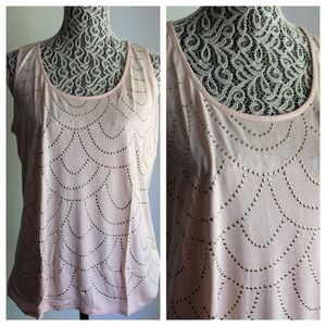 Forever 21 Tops - Ballerina Pink Deco Sleeveless Top
