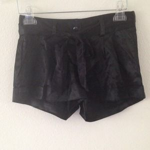 Other - Black satin shorts