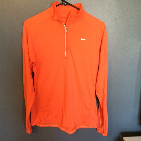 new cheap official store high fashion Nike orange dry-fit pullover