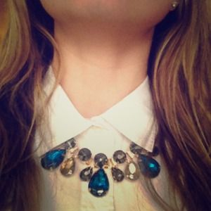 T+J Designs Jewelry - Luxe Blue Gem Rope Collar