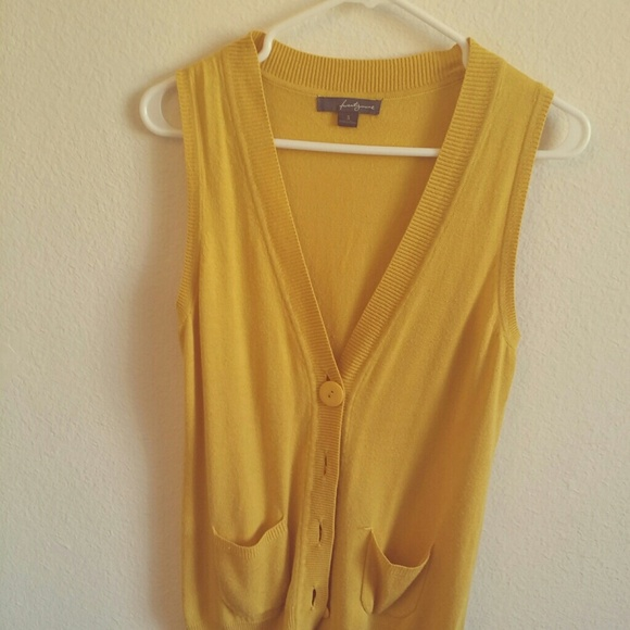 75% off Forever 21 Outerwear - Mustard Yellow Sweater-Vest from ...