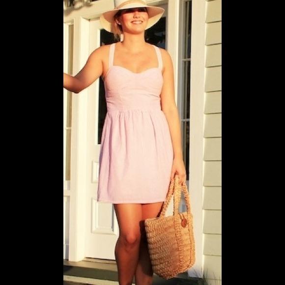 76% off Dresses &amp Skirts - SOUTHERN FROCK SEERSUCKER DRESS IN PINK ...