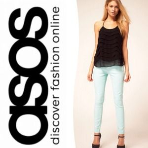 ASOS Denim - Asos Mint Stretch Skinny Jeans