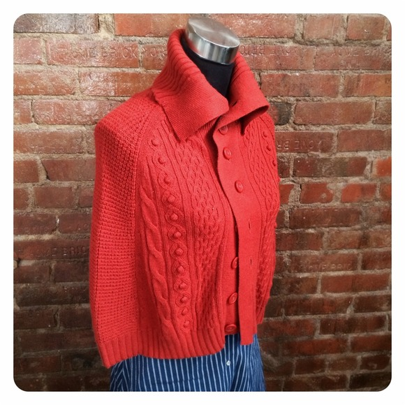 Jackets & Coats - HALF OFF SALE | Rust Knitted Cape