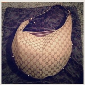 Authentic Gucci studded hobo bag - RARE