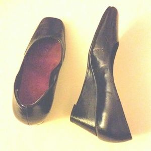 Shoes - SOLD! Black patent wedge aresoles shoe