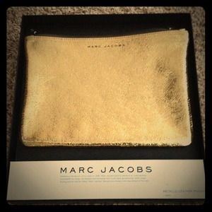 Marc Jacobs metallic leather pouch NWT