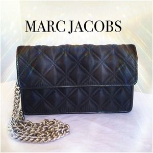AUTH MARC JACOBS SATIN QUILTED EVENING BAG ★