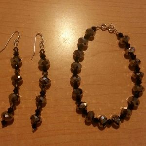 Jewelry - Real silver Barclets and earrings