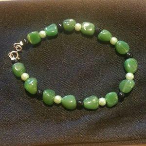 Jewelry - Green, white, black bracelet