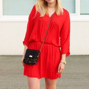 Zara Dresses & Skirts - Zara Red Crossover Dress