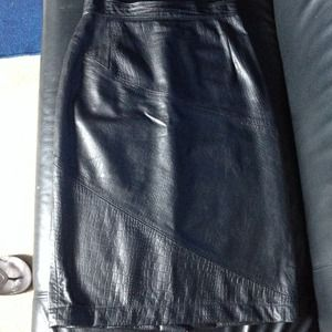 SALE****** = Vintage 100% genuine leather skirt
