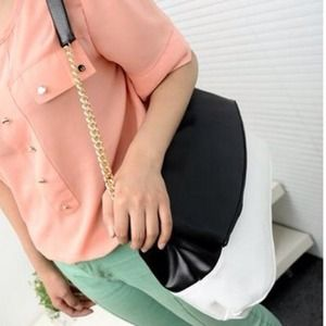 Handbags - New Fashionable Color Block Fold Chain Bag