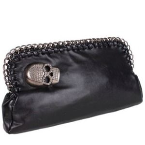 Handbags - New Arrival Korean Crossbones Black Clutch