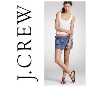 🎀 Jcrew Denim Ruffle Skirt 🎀
