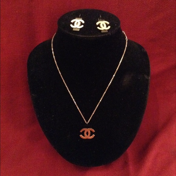 Chanel Necklace uk Chanel Necklace Earrings Set
