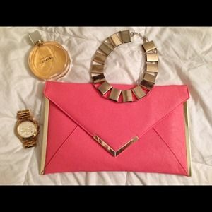 Host Pick: Asos Envelop clutch in Gold & Coral