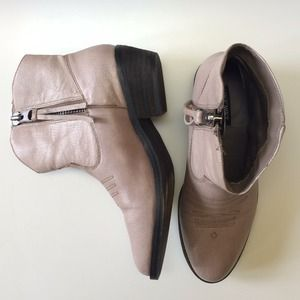 SHOEMINT Taupe Stevie Modern Cowboy Booties