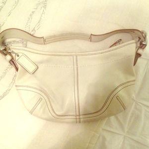 Coach Handbags - Ivory Leather Coach Bag