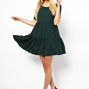 ASOS Dresses & Skirts - ASOS Green Tier Swing Dress