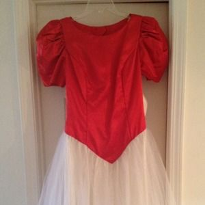Dresses & Skirts - Red and Off White Gown