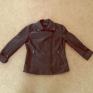 """Leather"" Moto Blazer Jacket"