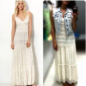 American Rag Dresses & Skirts - Ivory Bohemian Maxi Dress