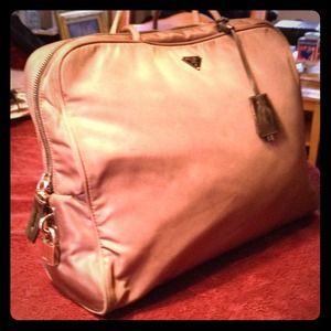 Handbags - Chocolate brown nylon handbag