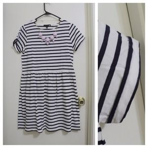 New navy white striped dress