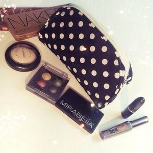 Handbags - Polka Dot Makeup Bag