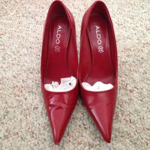 ALDO Shoes - Red pointy toe pumps