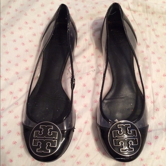 Tory Burch Shoes - Tory Burch Audrey Flats Black Clear Sz 8