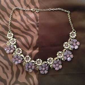 Lavender Floral Statement Necklace