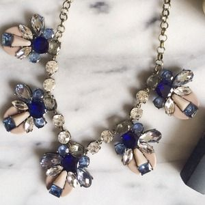 NEW Chloe Blue & Pink Statement Necklace
