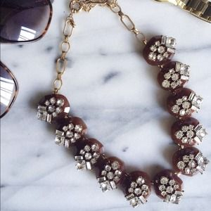 NEW Kate Brown & Crystal Pebbles Necklace