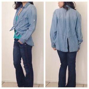 Ombré Light Wash Chambray