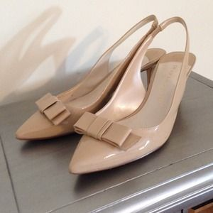 ivanka trump Shoes - Ivanka trump nude kitten heels with bow.
