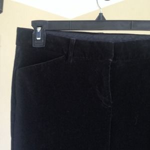 Velvet-like Express Editor Pants (Faded black)