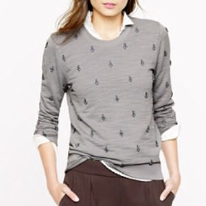 NWT J.Crew Painted Jewel Sweatshirt, large