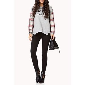 NEW Tartan Plaid Oversized Sweatshirt