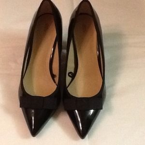 Zara Black Shoe with Bow size 6.5