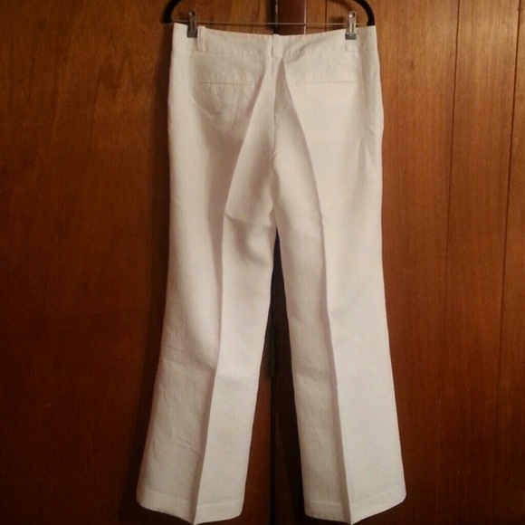 "LOFT - ""Ann Taylor Loft"" white linen pants (fully lined) from ..."
